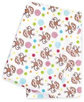 Trend Lab Monkeys Deluxe Flannel Swaddle Blanket