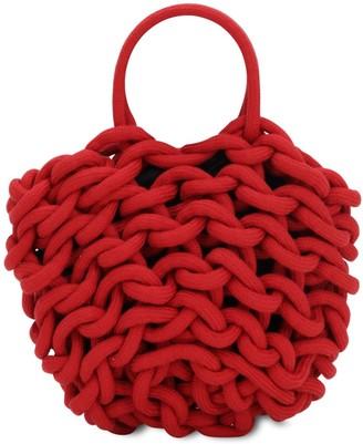 Alienina Julia Rope Bucket Cotton Top Handle Bag