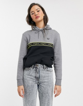 Fred Perry taped hoodie