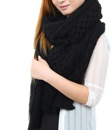 HERRICO New winter long pure color Female scarves Thick Knitted Winter Warm Infinity Scarf
