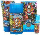 Christian Audigier Ed Hardy Hearts & Daggers Gift Set for Men (EDT Spray + Shower Gel + Deodorant + Mini EDT)