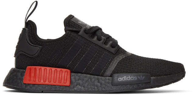 adidas Black and Red NMD-R1 Sneakers