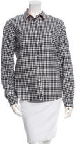 Etro Gingham Button-Up Top