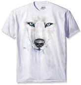 The Mountain Men's White Wolf Face T-Shirt