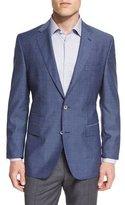 HUGO BOSS Hutsons Mini-Check Slim-Fit Wool Sport Coat, Navy