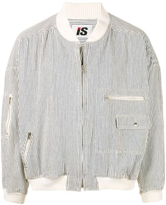 Issey Miyake Pre Owned 1980's Sports Line striped bomber