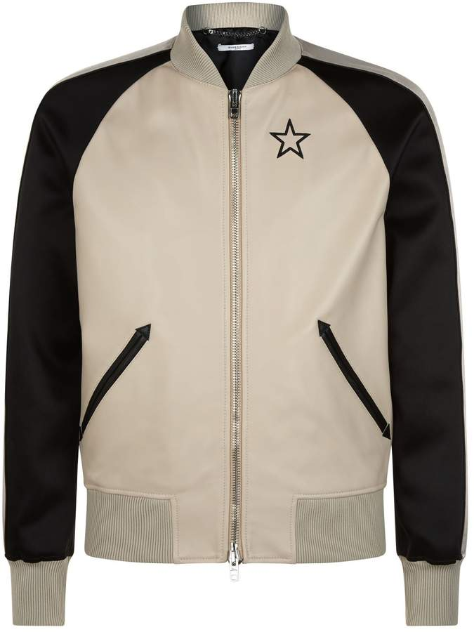 Givenchy Leather Star Bomber Jacket