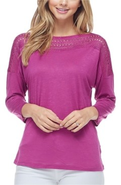 Fever Women's 3/4 Sleeve Top
