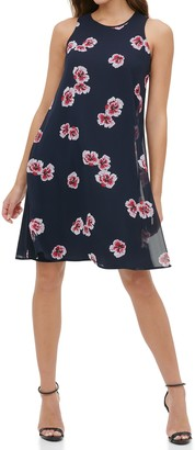 Tommy Hilfiger Floral Print Woven Shift Dress