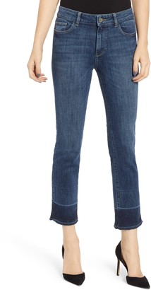 DL1961 Mara Instasculpt Released Crop Hem Straight Jeans