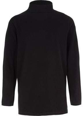 River Island Boys black roll neck long sleeve top