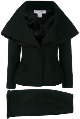 Christian Dior Pre-Owned cape-like skirt suit
