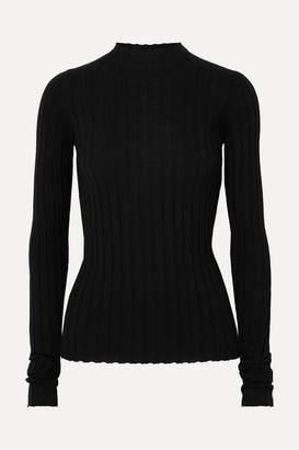 Petar Petrov Ribbed Merino Wool Sweater - Black