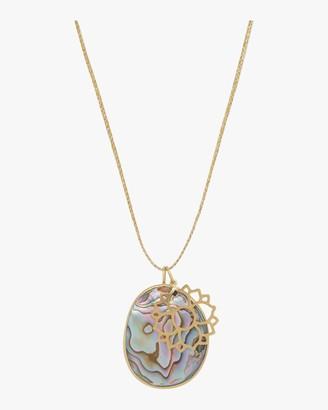 Pippa Small Gold Lotus Colette Pendant Necklace