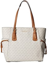 MICHAEL Michael Kors Voyager East/West Signature Tote (Vanilla) Tote Handbags