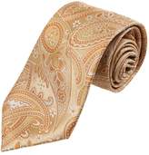 YAEB0026 Orange Blue Paisley Fitness For Husband Woven Jacquard Silk Tie Classy Formal Wear Skinny Tie By Y&G