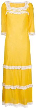 A.N.G.E.L.O. Vintage Cult 1970s Lace Trim Maxi Dress
