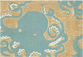 Liora Manné Front Porch Indoor/Outdoor Octopus Aqua 2'6'' x 4' Area Rug