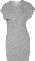 IRO Loretta gathered slub cotton and wool-blend mini dress