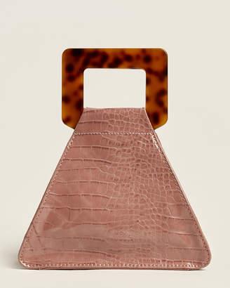 Urban Expressions Blush Delilah Vegan Top Handle Bag