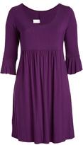 Glam Eggplant Ruffle-Sleeve Dress - Plus
