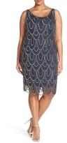 Pisarro Nights Plus Size Women's Beaded Sheath Dress