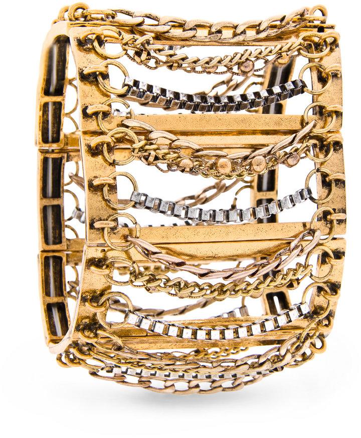 MANGO Multiple chains bracelet
