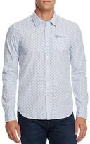 Scotch & Soda Dot Print Slim Fit Button Down Shirt
