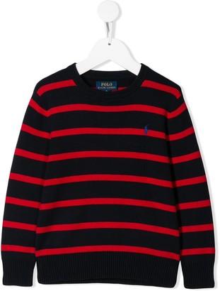 Ralph Lauren Kids striped logo jumper