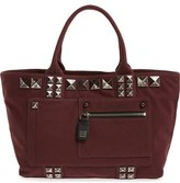 Marc Jacobs 'Chipped Studs' Canvas Shoulder Tote