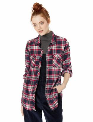 Volcom Junior's Women's Getting Rad Plaid Long Sleeve Flannel Shirt