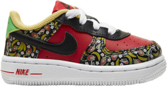 Nike Force 1 Low Basketball Shoes - Red / Black White