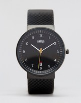 Braun Classic Leather Watch In Black