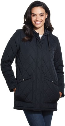 Weatherproof Hooded Quilted Duffle Coat
