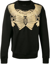 Les Hommes jewel embroidered sweatshirt - men - Cotton/Metallic Fibre - L