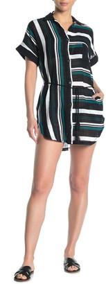 Dolce Vita Striped Cover-Up Shirt Dress