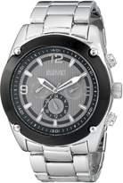 August Steiner Men's AS8129SSB Analog Display Swiss Quartz Silver Watch