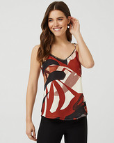 Le Château Abstract Print V-Neck Camisole