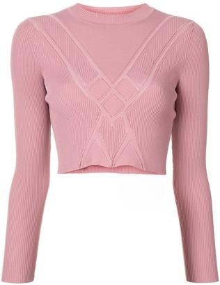 Alexis Chera ribbed-knit cropped top