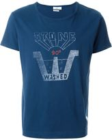 Closed front print T-shirt