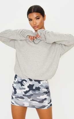 PrettyLittleThing Grey Camo Print Mini Skirt