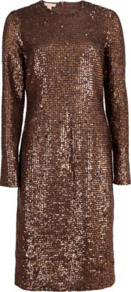 Michael Kors Collection Paillette Crewneck Dress