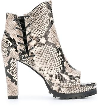 AllSaints Micaela peep toe ankle boots