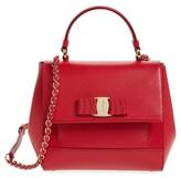 Salvatore Ferragamo Carrie Leather Satchel - Red