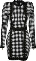 Balmain Harlequin-pattern Knit Dress