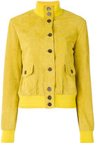 Simonetta Ravizza band collar bomber jacket