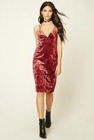 Forever 21 FOREVER 21+ Contemporary Velvet Cami Dress