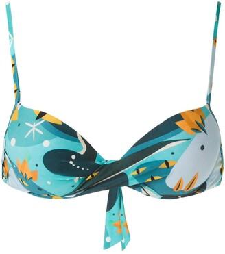 Lygia & Nanny Malta printed bikini top