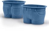 Fred & Friends Blue Jean Muffin Top Reusable Liner - Set of Eight