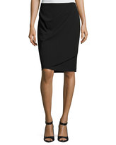 Vince Camuto Back-Zip Faux Wrap Skirt